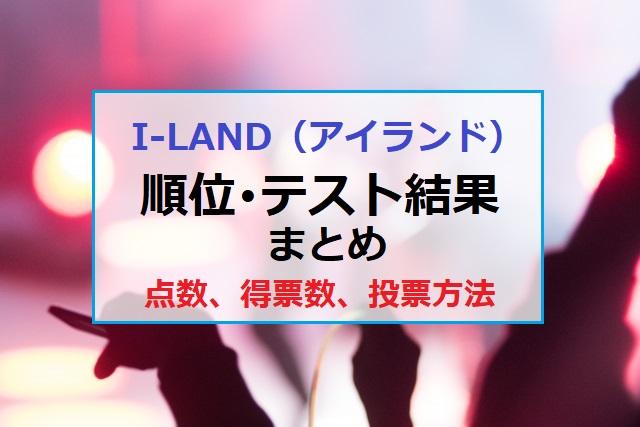 ILAND アイランド 順位 テスト結果 点数 票数 投票方法